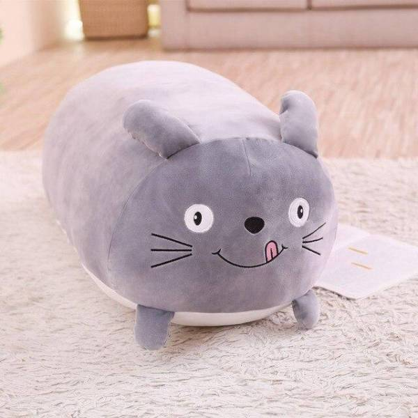 Grande Peluche Coussin Chat
