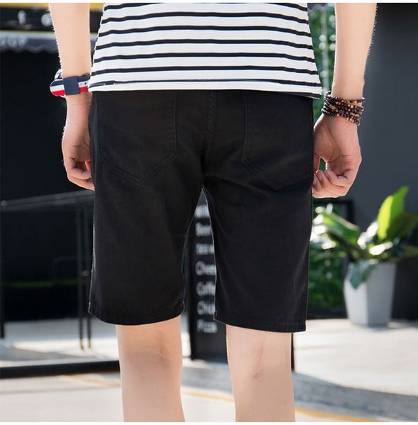 Straight Fit Torn Leisure Men's Shorts