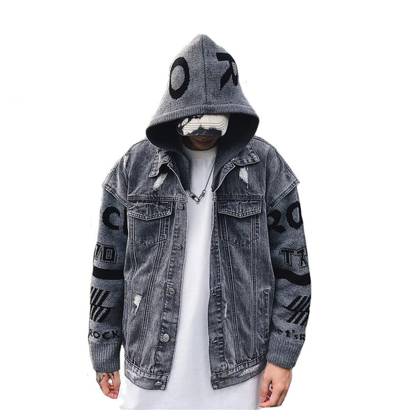 Loose Fit Long Sleeves Men's Jacket