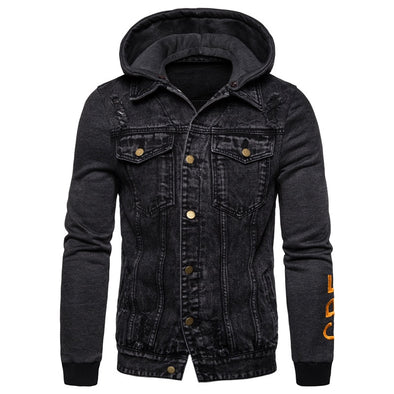 Fitted Men's Hoodie Jacket with Removable Hood