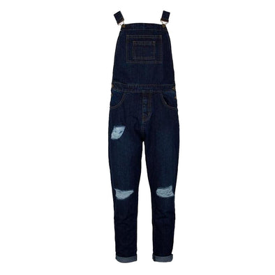 Slim Straight Fit Ripped Men's Casual Overalls