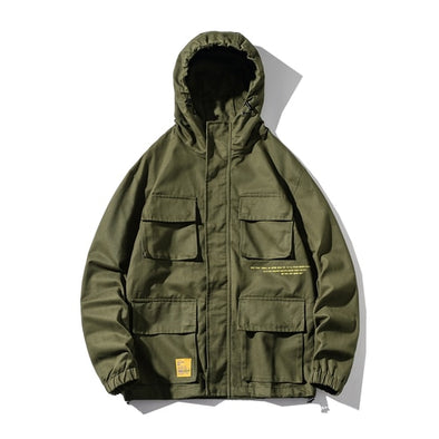 Large Loose Straight Fit Men's Cargo Jacket