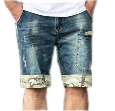 Straight Fit Men's Cracked Casual Shorts