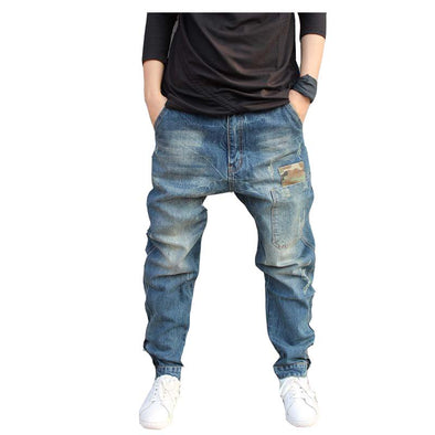 Loose Fit Men's Harem Jeans