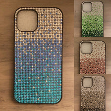 Load image into Gallery viewer, Falling Stars bling cellphone case - Green