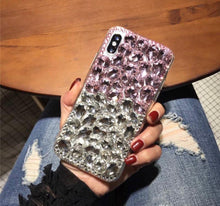 Load image into Gallery viewer, Rock Star two-toned cellphone case (Pink/clear)
