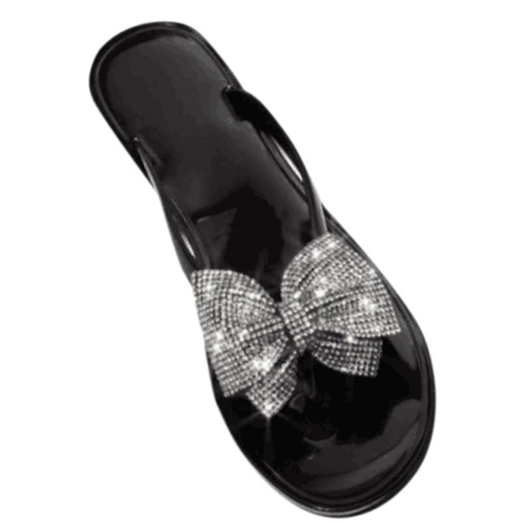 Bowtie Bling sandal (Black)