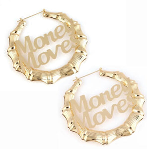 Money Moves oversized earrings (Gold tone)