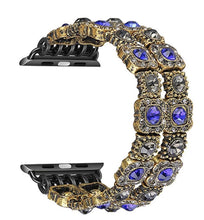 Load image into Gallery viewer, The Queens Bling watch band - (Blue and Gold)