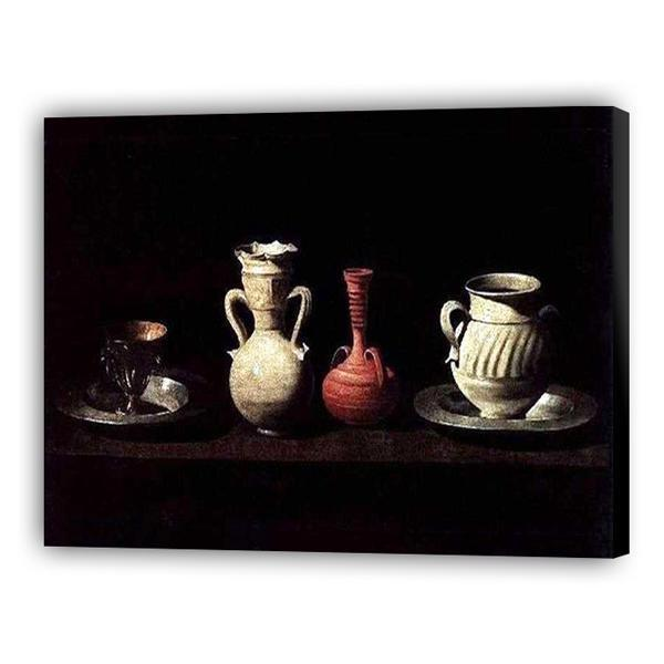 Still Life with Pots by Francisco de Zurbarán | Art of Paint by Numbers