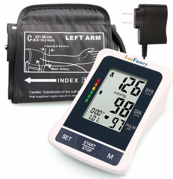 BPCheck™ Home Blood Pressure High Arm Automatic Monitor
