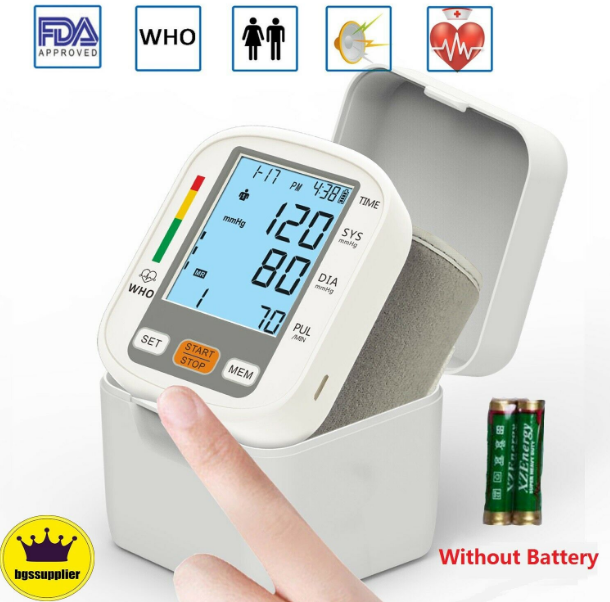 BPCheck™ Digital Wrist Cuff Blood Pressure Voice Talking Monitor