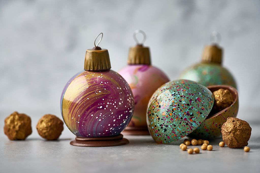 Christmas  Bauble Filled with Gingerbread Truffles