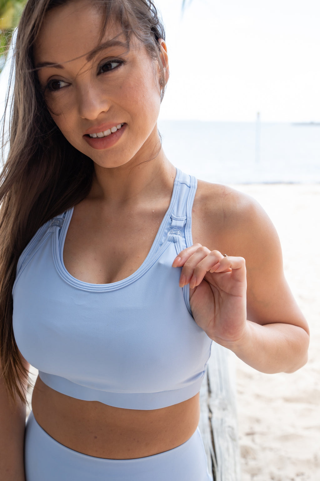 Breastfeeding sports bra