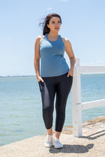 Load image into Gallery viewer, Aegean blue nursing singlet