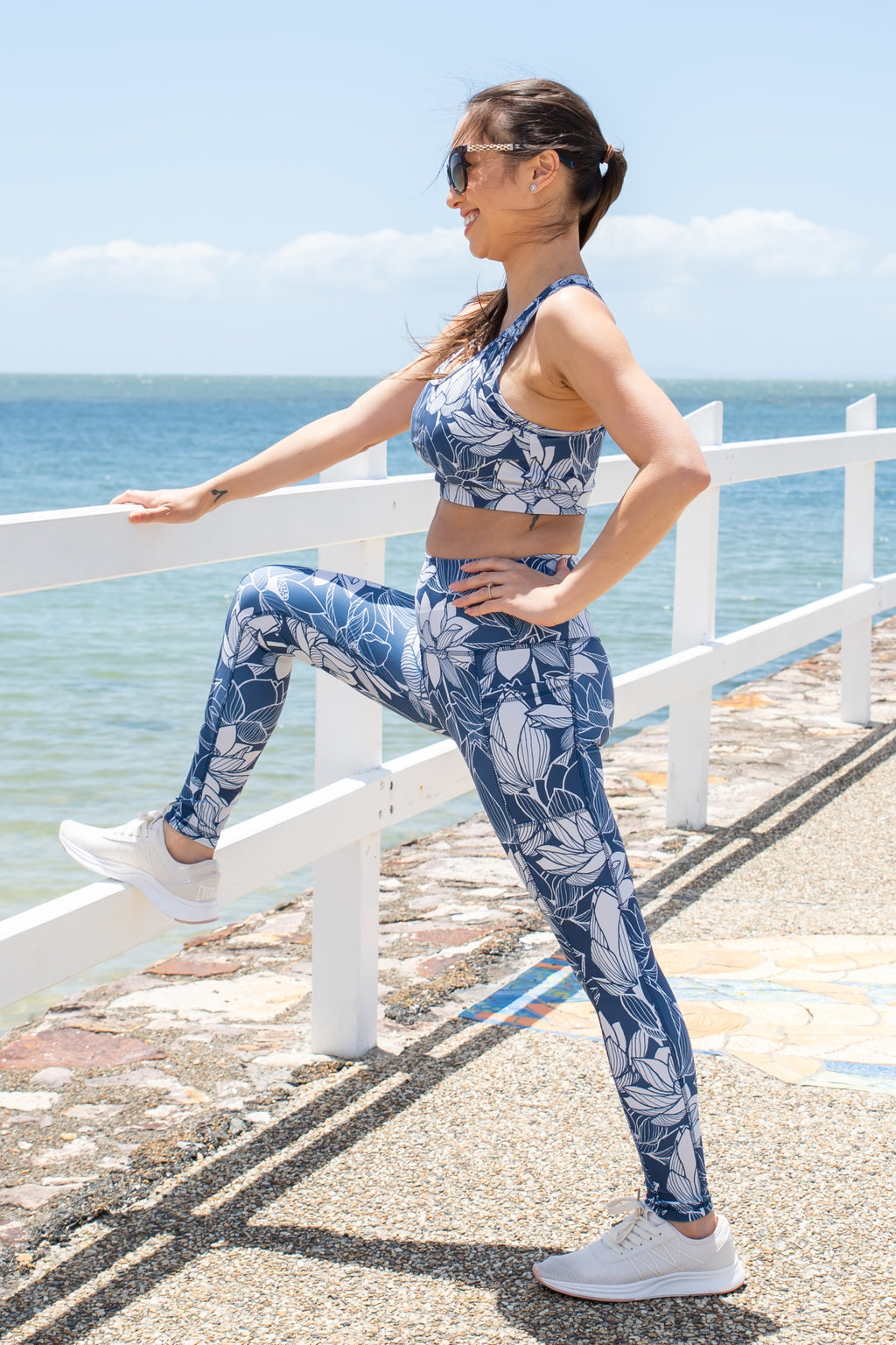 Lotus print activewear set