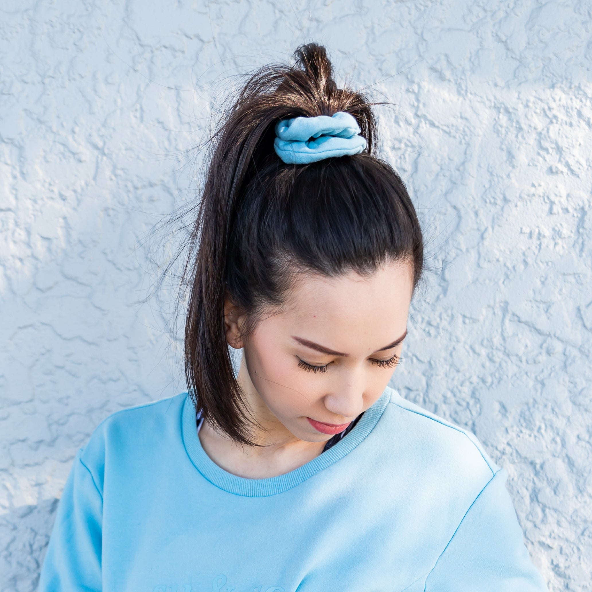 Scrunchie powder blue