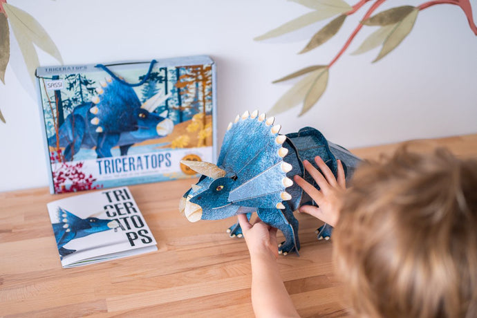 Sassi's amazing 3D assemble and book of the Triceratops