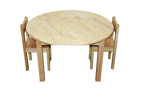 Rubberwood Round Table 75cm & 2 Standard Chairs