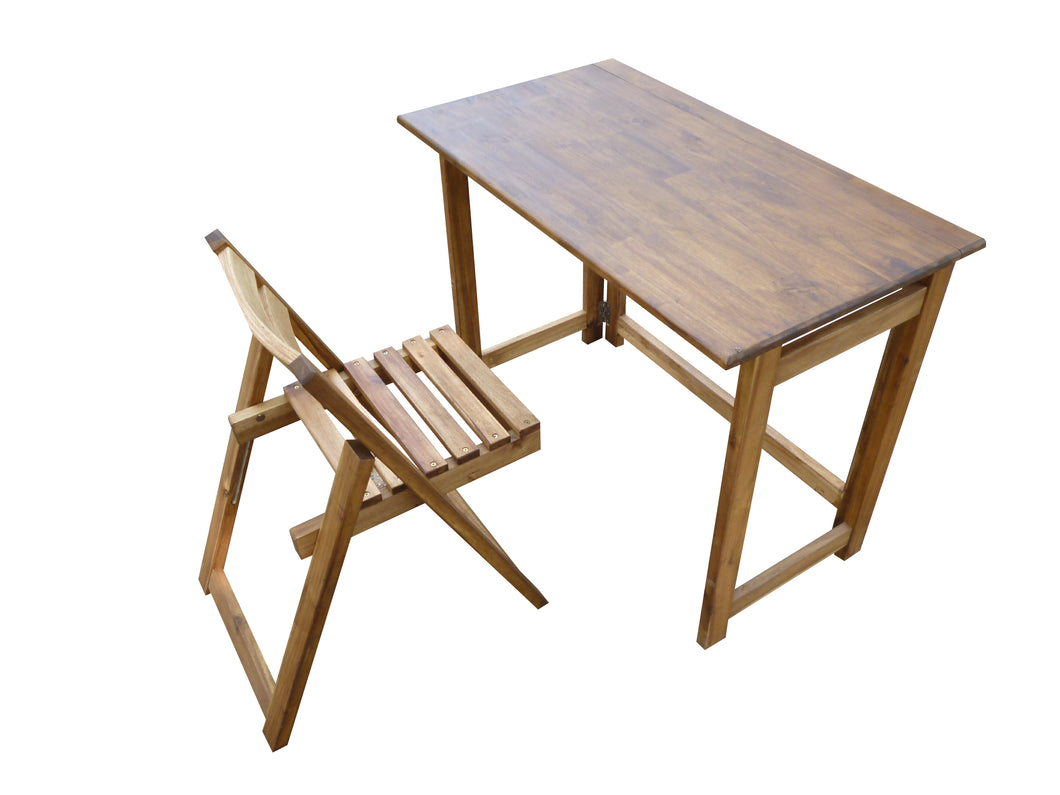 Foldable Study Desk and Chair