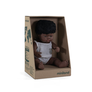 Anatomically Correct Baby, African Boy, 38 cm
