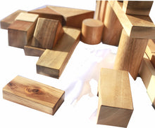 Load image into Gallery viewer, Natural Wood Blocks 34 PCS