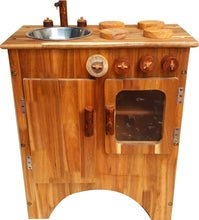 Load image into Gallery viewer, Combo Wooden Stove and Sink