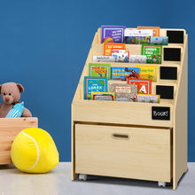 Load image into Gallery viewer, Keezi Kids Bookcase Childrens Bookshelf Organiser Storage Shelf Wooden Beige