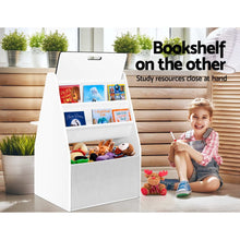 Load image into Gallery viewer, Keezi Kids Bookshelfs Child Bookcases Kids Easel Whiteboard Magazine Rack Desk