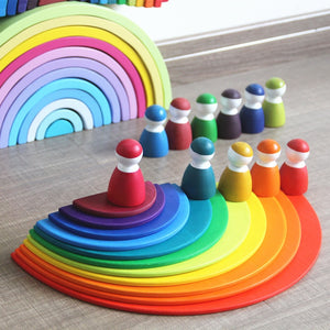 Rainbow Semi Circles 11 pieces