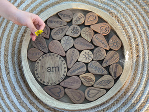 Wooden Round Tree Tray