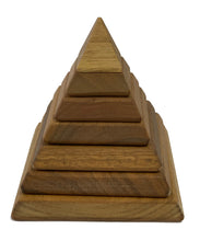 Load image into Gallery viewer, In-wood Natural Sacred Geometry Pyramid