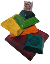 Load image into Gallery viewer, In-wood Chakra Rainbow Pyramid