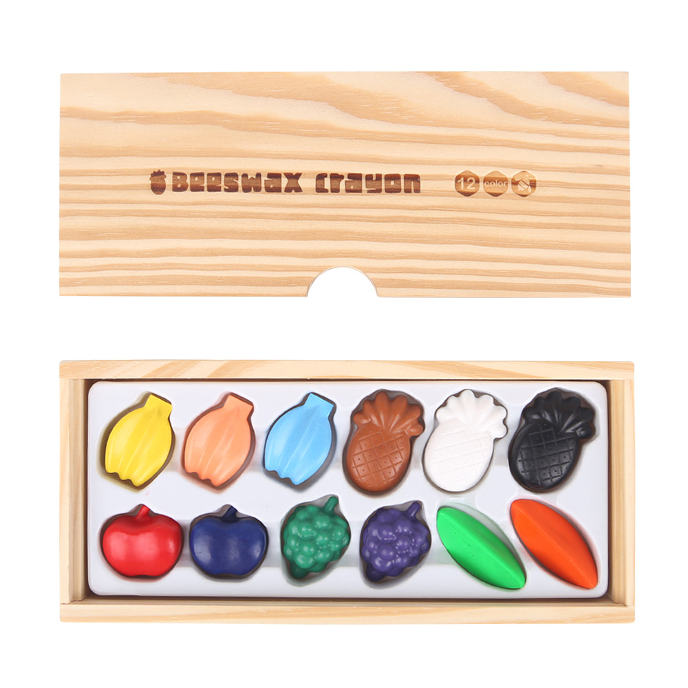 Beeswax Crayons - Colourful Fruit - 12 Colours