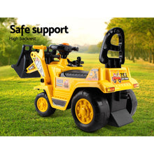 Load image into Gallery viewer, Keezi Kids Ride On Bulldozer - Yellow