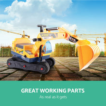 Load image into Gallery viewer, Keezi Kids Ride On Excavator - Yellow