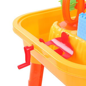Sand & Water Table & Chair Sandpit Set