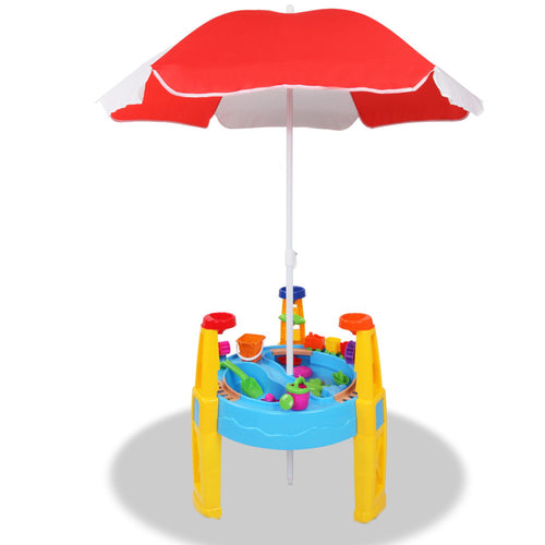 Sand & Water Table Set - 26 Piece - Umbrella & Table