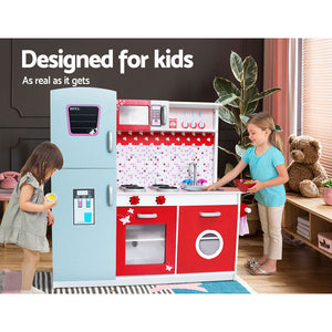 Keezi Kids Cookware Play Set - Pink & Red