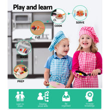 Load image into Gallery viewer, Keezi Kids Kitchen Set Pretend Play Food Sets Childrens Utensils Toys Black