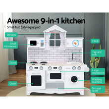 Load image into Gallery viewer, Keezi Kids Kitchen Set Pretend Play Food Sets Childrens Utensils Toys White