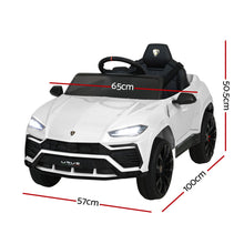 Load image into Gallery viewer, Kids Ride On Car Lamborghini with Remote Control - White