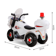 Load image into Gallery viewer, Kids Ride On Motorbike White