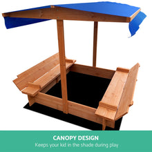 Load image into Gallery viewer, Keezi Wooden Outdoor Sand Box Set Sand Pit- Natural Wood