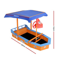 Load image into Gallery viewer, Keezi Boat-shaped Canopy Sand Pit