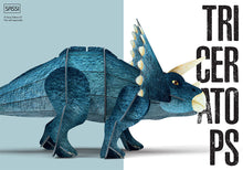 Load image into Gallery viewer, Sassi 3D Assemble and Book - The Age Of The Dinosaurs - Triceratops