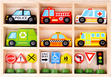 Load image into Gallery viewer, Vehicles & Signs Play Set