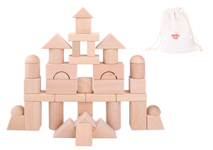 Natural Wooden Jumbo Blocks - 42PCS