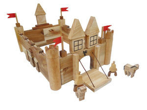 Wooden Castle Building Set
