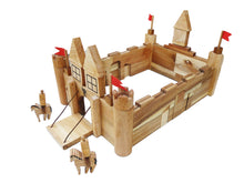 Load image into Gallery viewer, Wooden Castle Building Set